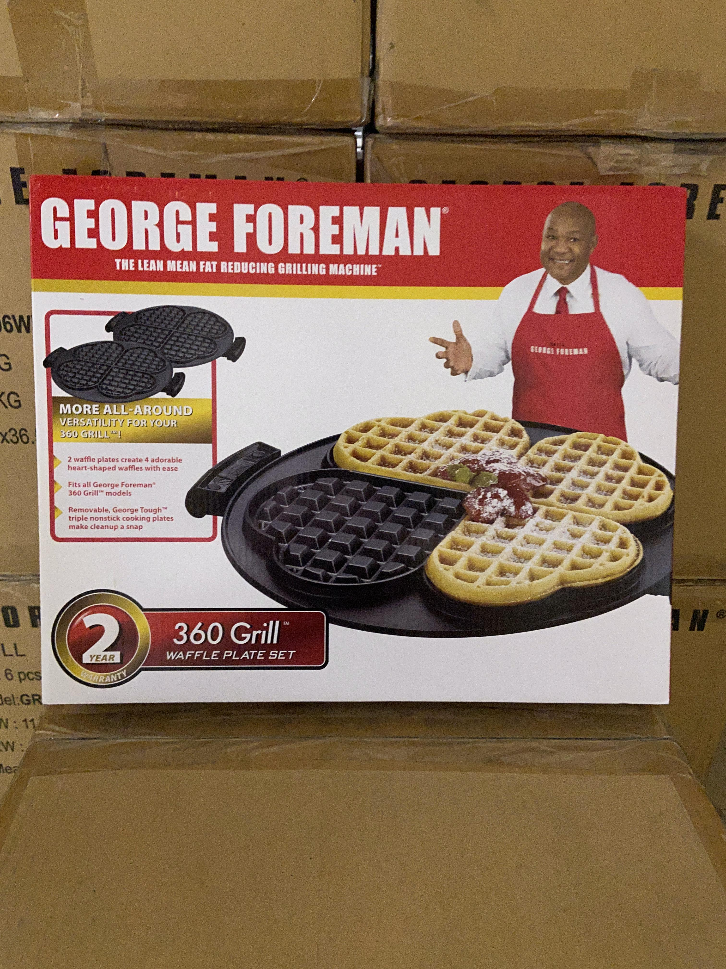 Lot 46 - 55 George Forman 360 Grill Waffle Plate Sets New in Box