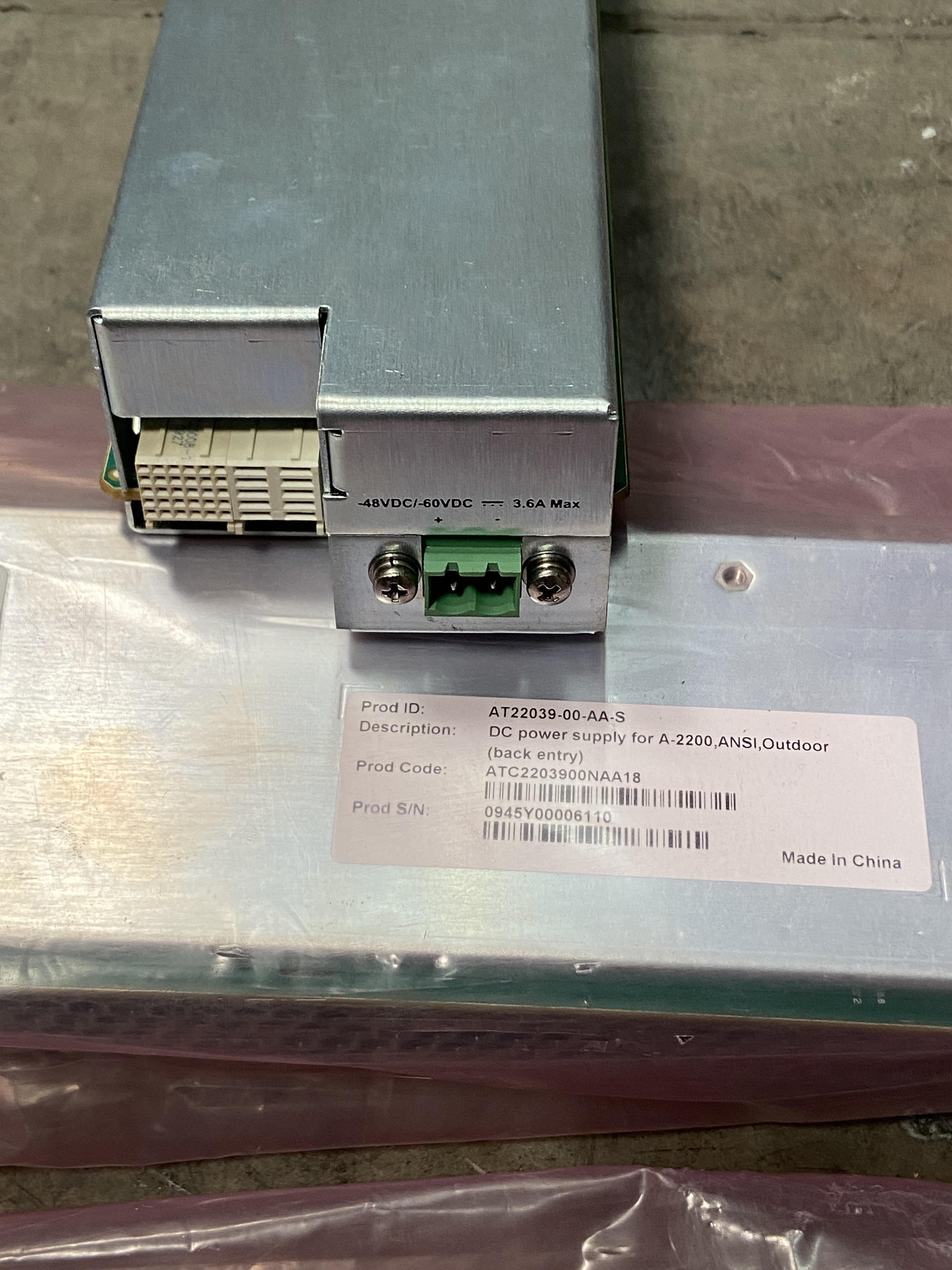 Lot 1S - Lot of 4 Rear AC and DC Power Supply Modules AT22035 and AT22039