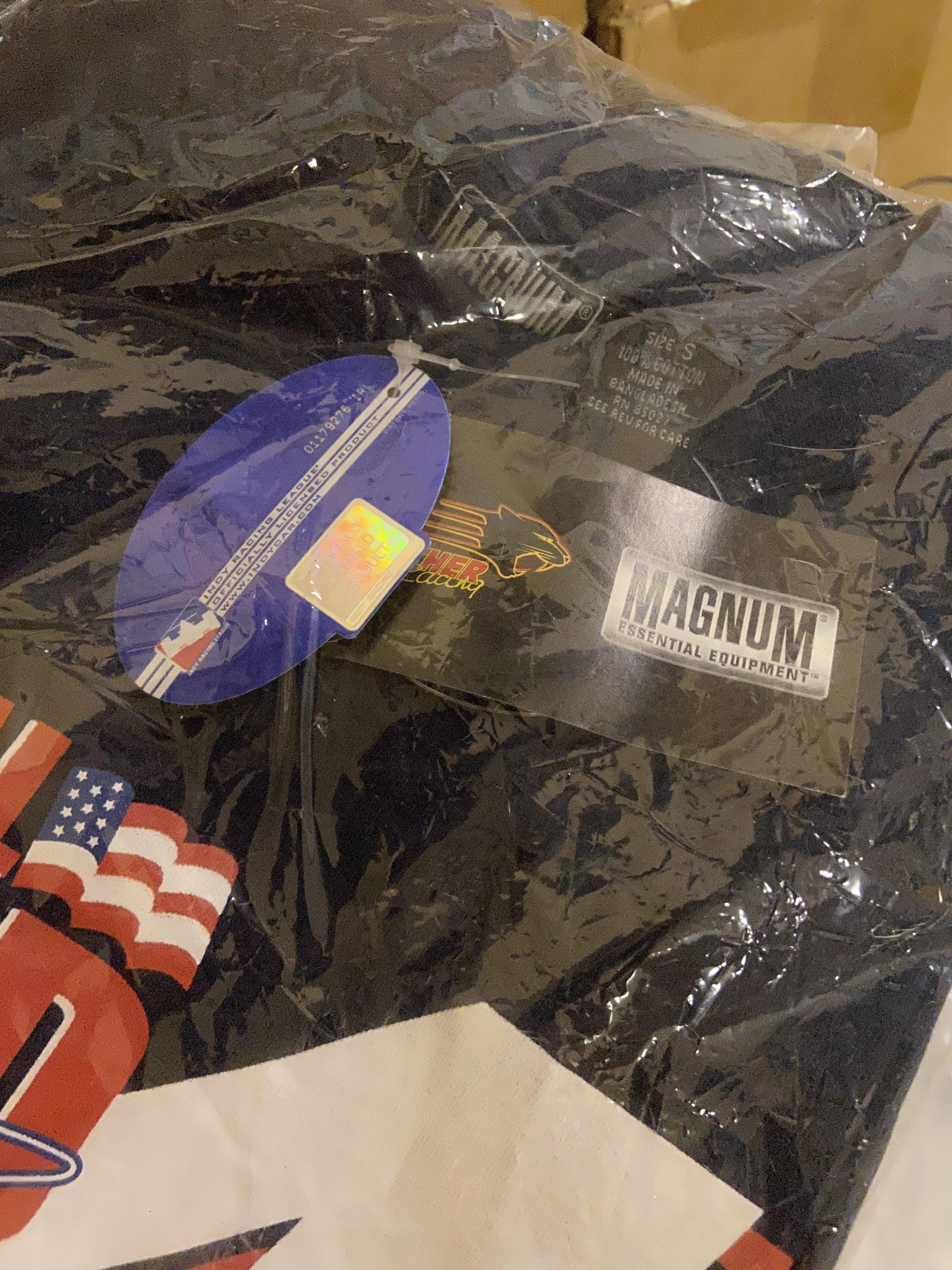 Lot 2 - Large lot of New Magnum Shirts Dan Wheldon Racing National Guard IndyCar Magnum Team T-shirt #4 etc