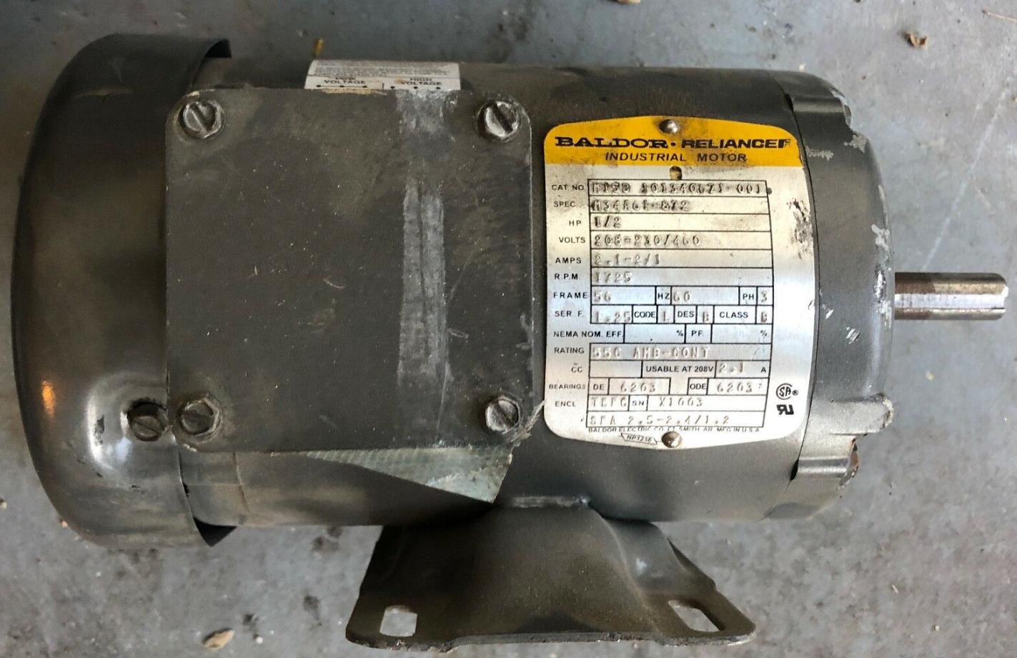 Lot 1L - BALDOR INDUSTRIAL RELIANCE MOTOR 1725 RPM M15B 101340671-001