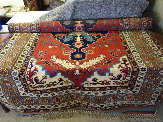 Lot 222 - A vintage Yoruk Turkish wool carpet. 300 x 190cm (5.69m²).