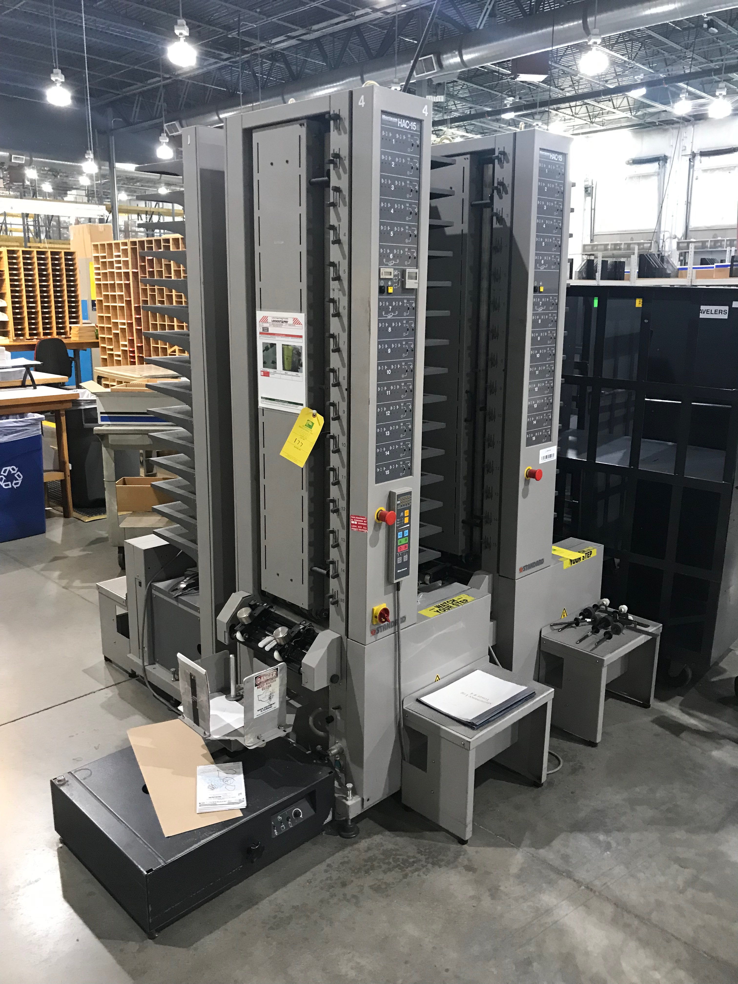 Horizon Vertical Collator, Model# HAC-15B, Serial# 119207, Paper Size A5 to A3, 120 V, 60 Hz, 90 - Image 2 of 8