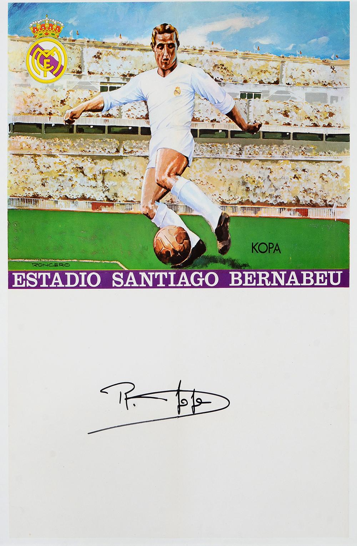 Affiche du Real Madrid CF  l effigie de Raymond Kopa au stade