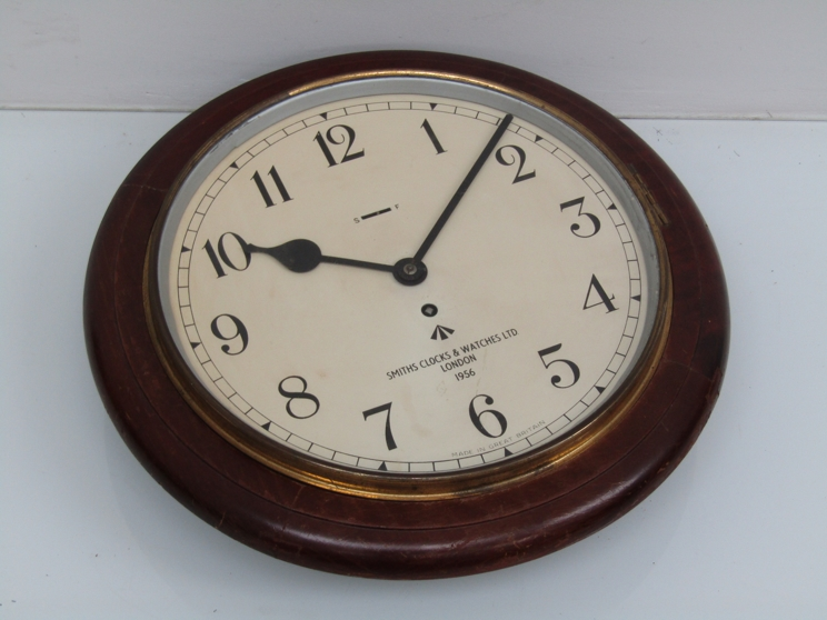 """Lot 9012 - A mid 20th Century 12"""" dial clock with spring driven 30 hour movement,"""
