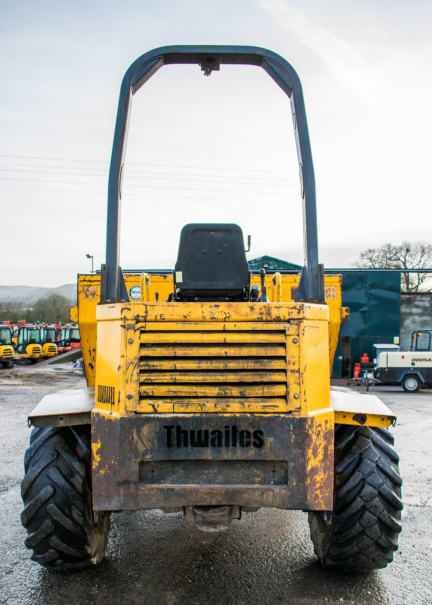 Lot 43 - Thwaites 6 tonne straight skip dumper Year: 2005 S/N: 7A6751 Recorded Hours: 4615