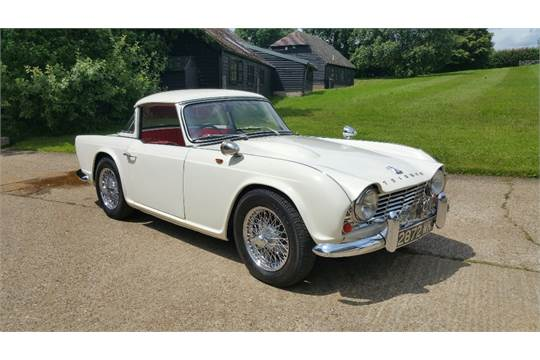 A 1962 Triumph Tr4 Registration Number 2872 Wk White This Show