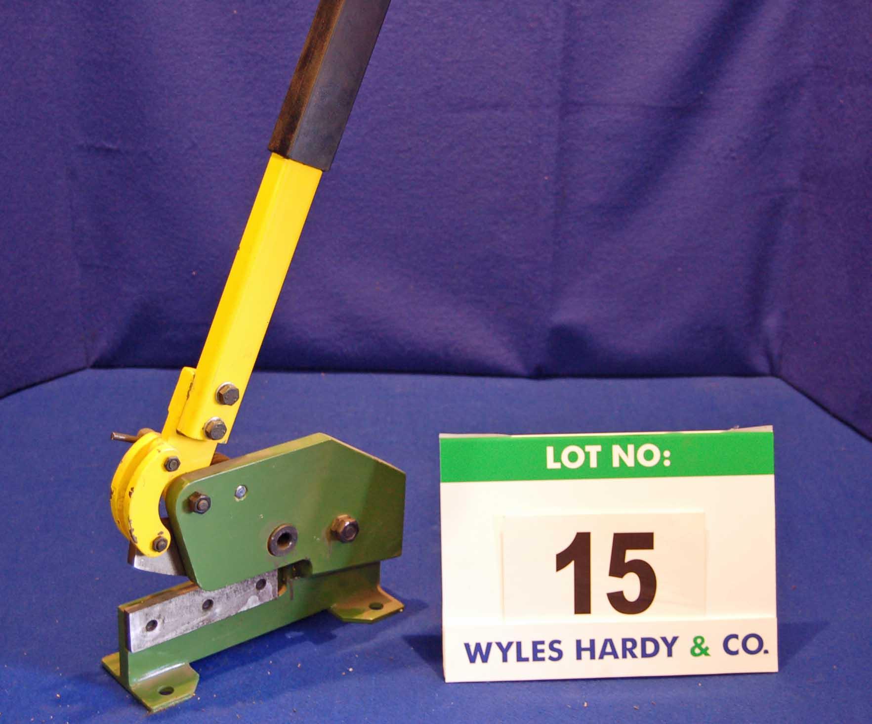 Lot 15 - WARCO Bench mountable Hand Shears