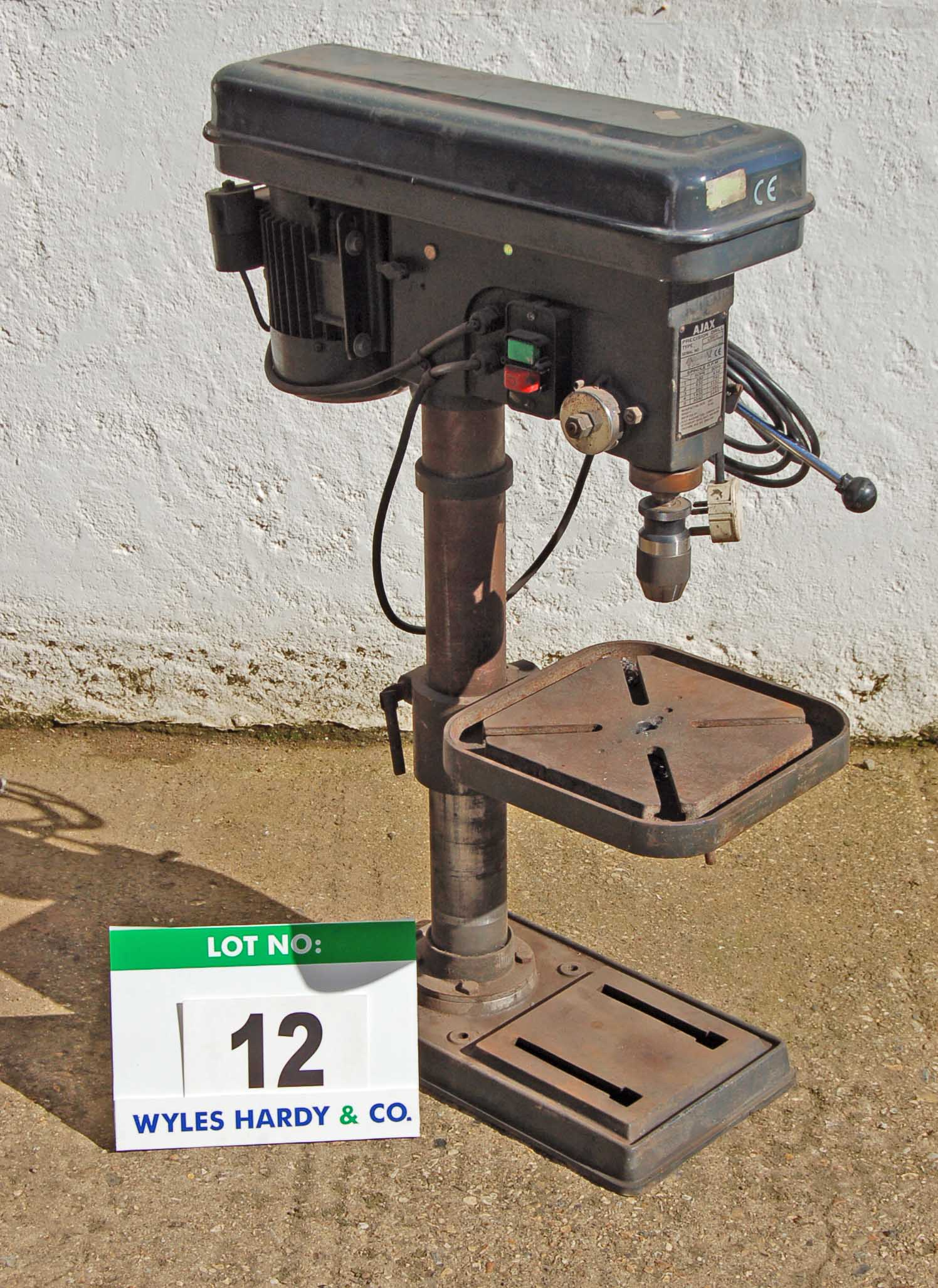 Lot 12 - AJAX AJBM16 Bench mounted Precision Drill Serial No. 04532 (240V)