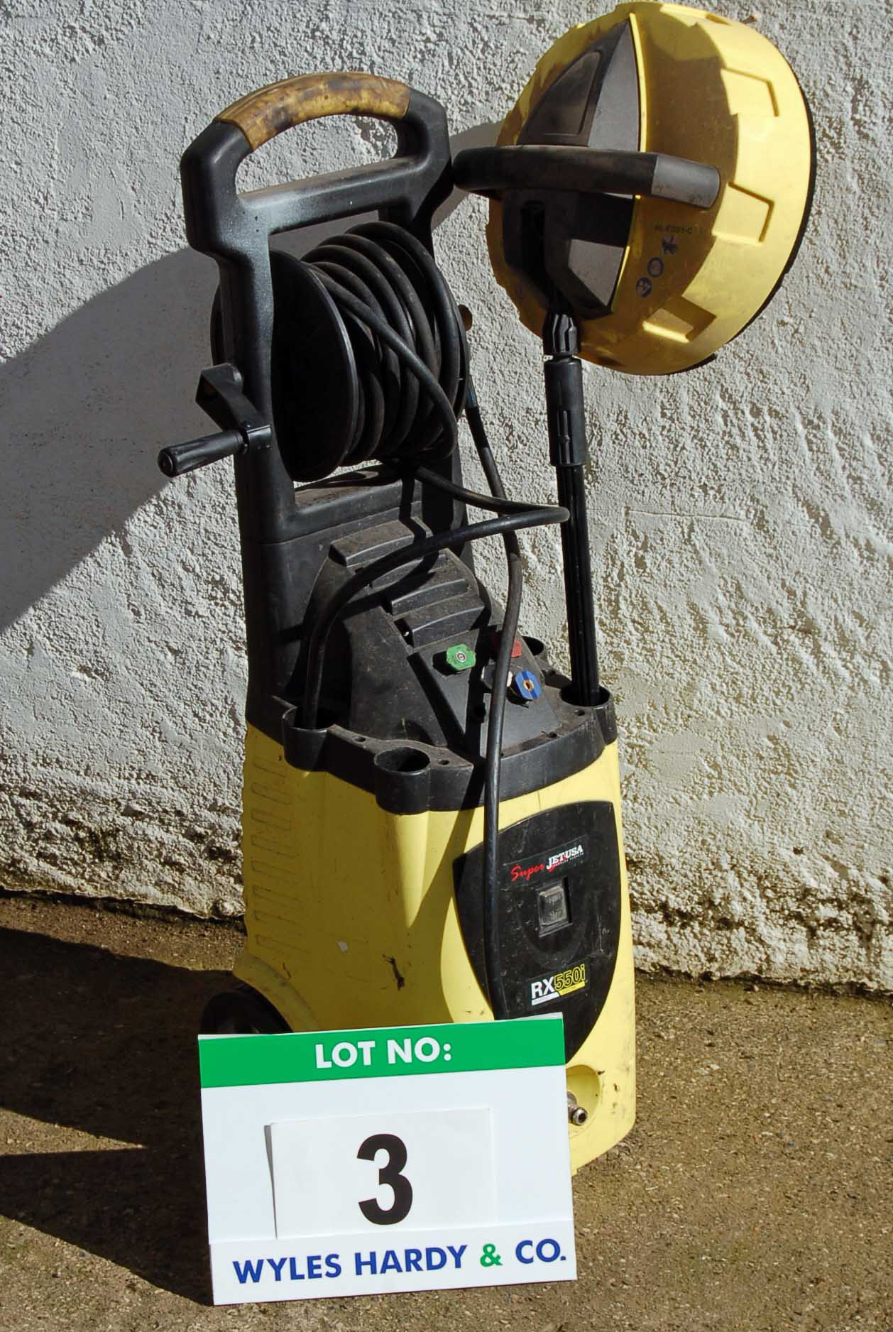 Lot 3 - SUPERJET USA RX550i Mobile Pressure Washer (240V) Note: Lance Missing