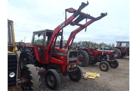 Massey Ferguson 590 2wd Tractor With Loader  Low Hrs, from