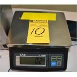 CAS SW-10 Electronic Scale, Capacity 10 x 0.005lb
