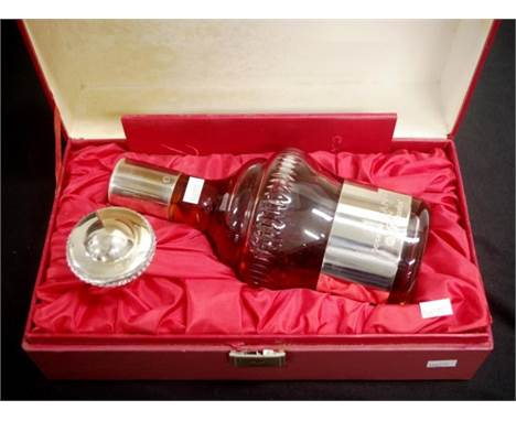Boxed Baccarat crystal decanter of Camus cognac in fitted box, with Cetificate, evidencing Cognac was unopened 700ml decanter