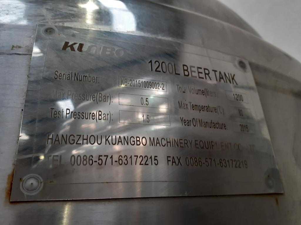 Kumbo 1200l Stainless Steel Beer Tank/conical FV - Image 5 of 6