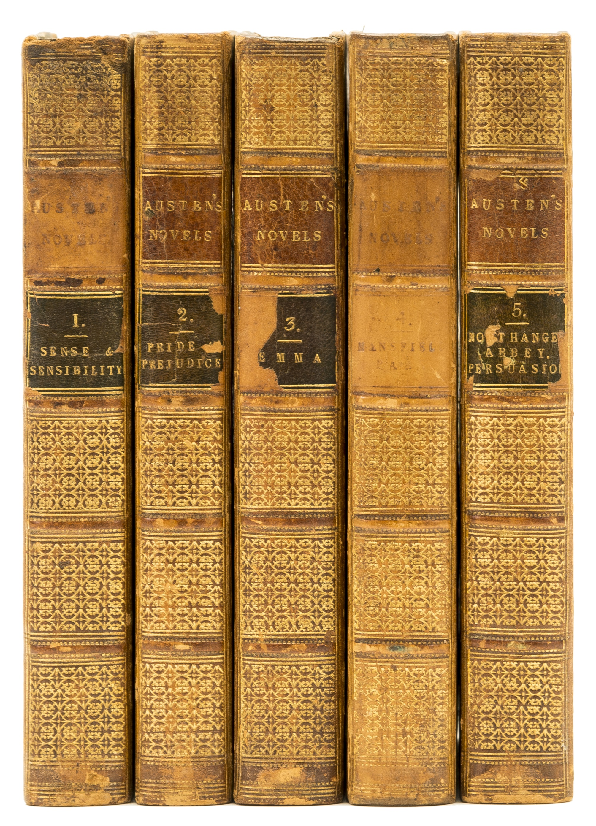 Lot 225 - Austen (Jane) Novels, 6 vol. in 5, reprint of first collected edition, once owned by Jane Austen's …