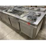 """84"""" X 32"""" STAINLESS STEEL - BUFFET FOOD WARMER STATION W/4 x INSERTS + 2 SOUP INSERTS"""