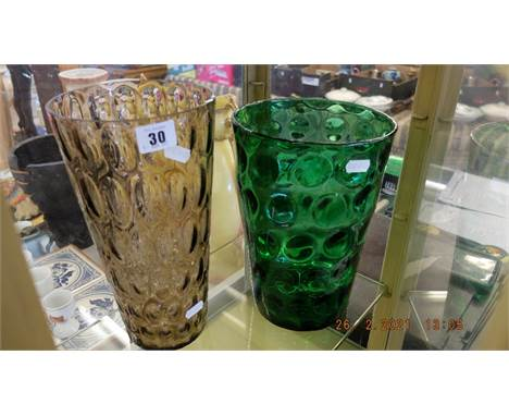 Two Whitefriars style vases