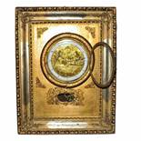 Vienna Frame clockgold-plated frame clock with iron smith & iron grinder 4/4 hour striking on 2 gong