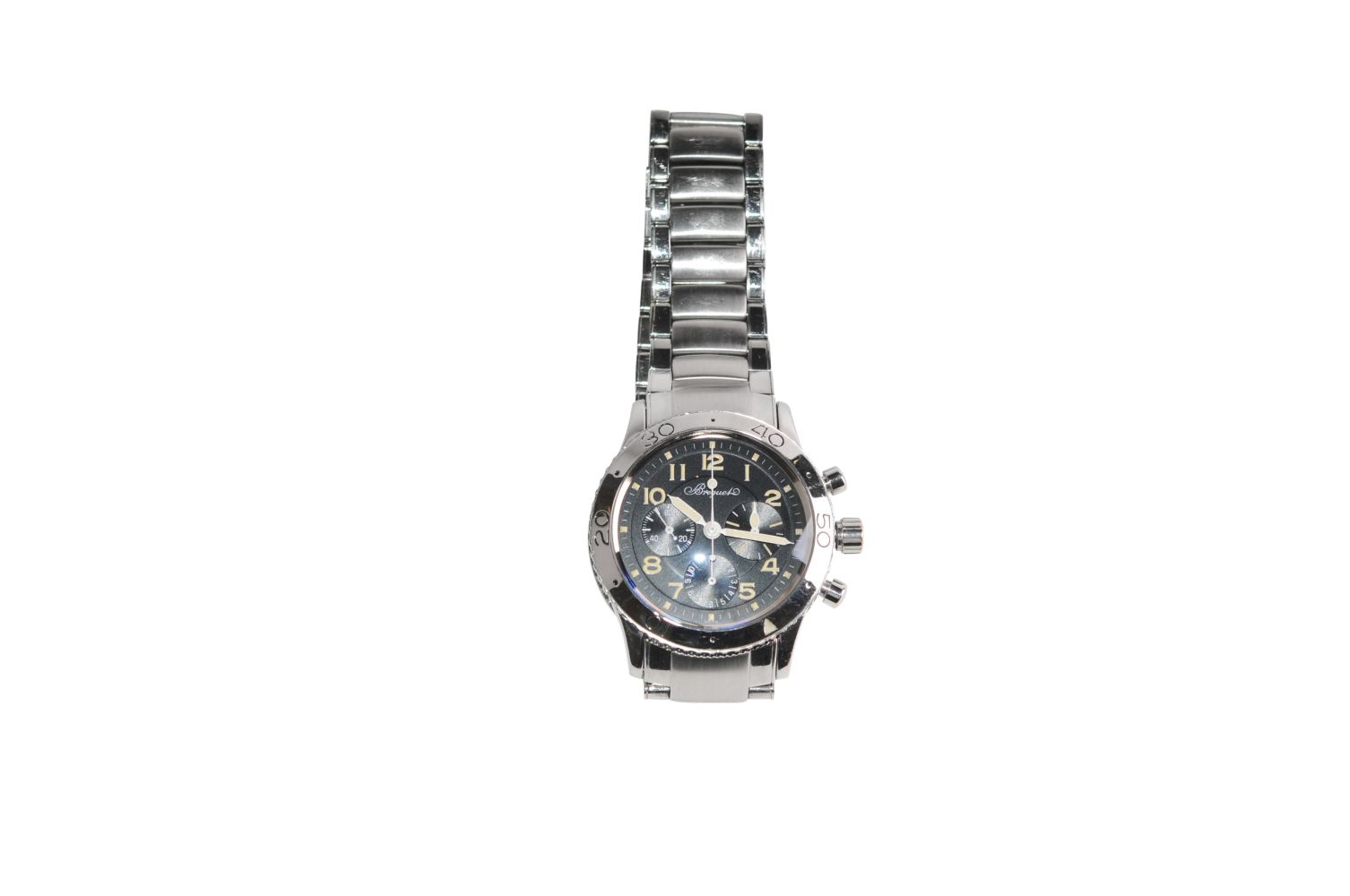 BREGUET Type XX AeronavaleSteel watch with steel strap automatic chrono 39 mm without box without - Bild 2 aus 5