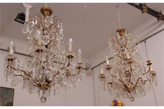 Lampadario gocce cristallo prezzi: gocce di vetro lampadario