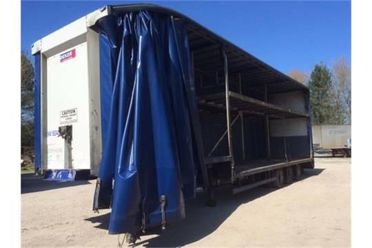 lot 518 2007 step frame double deck trailer yor 2007 length 13 6m