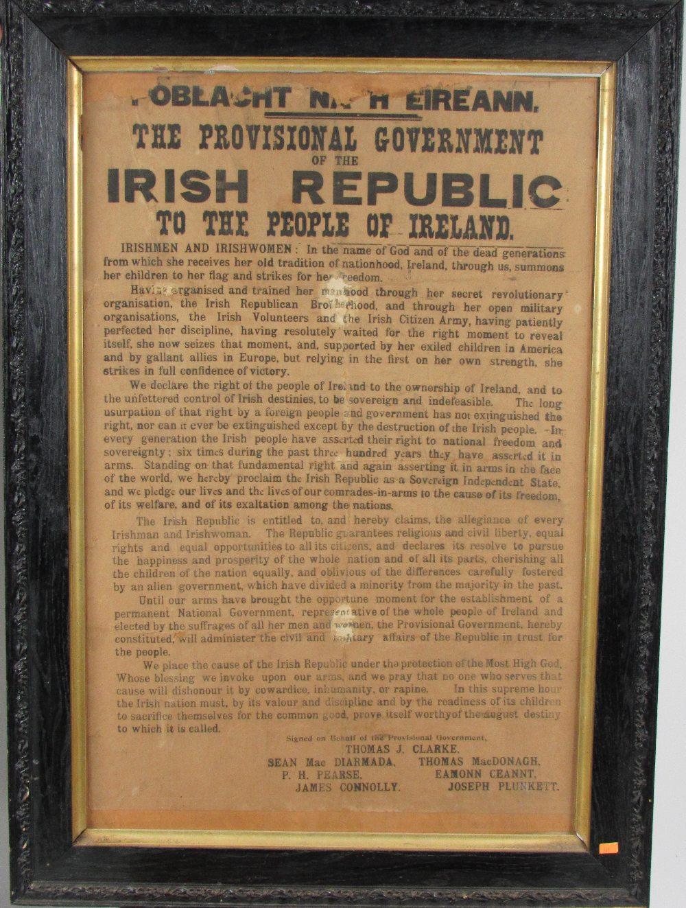 THE 1916 PROCLAMATION: THE GPO COPY POBLACHT NA H EIREANN.