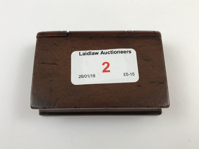 Lot 2 - A small Mauchline ware book