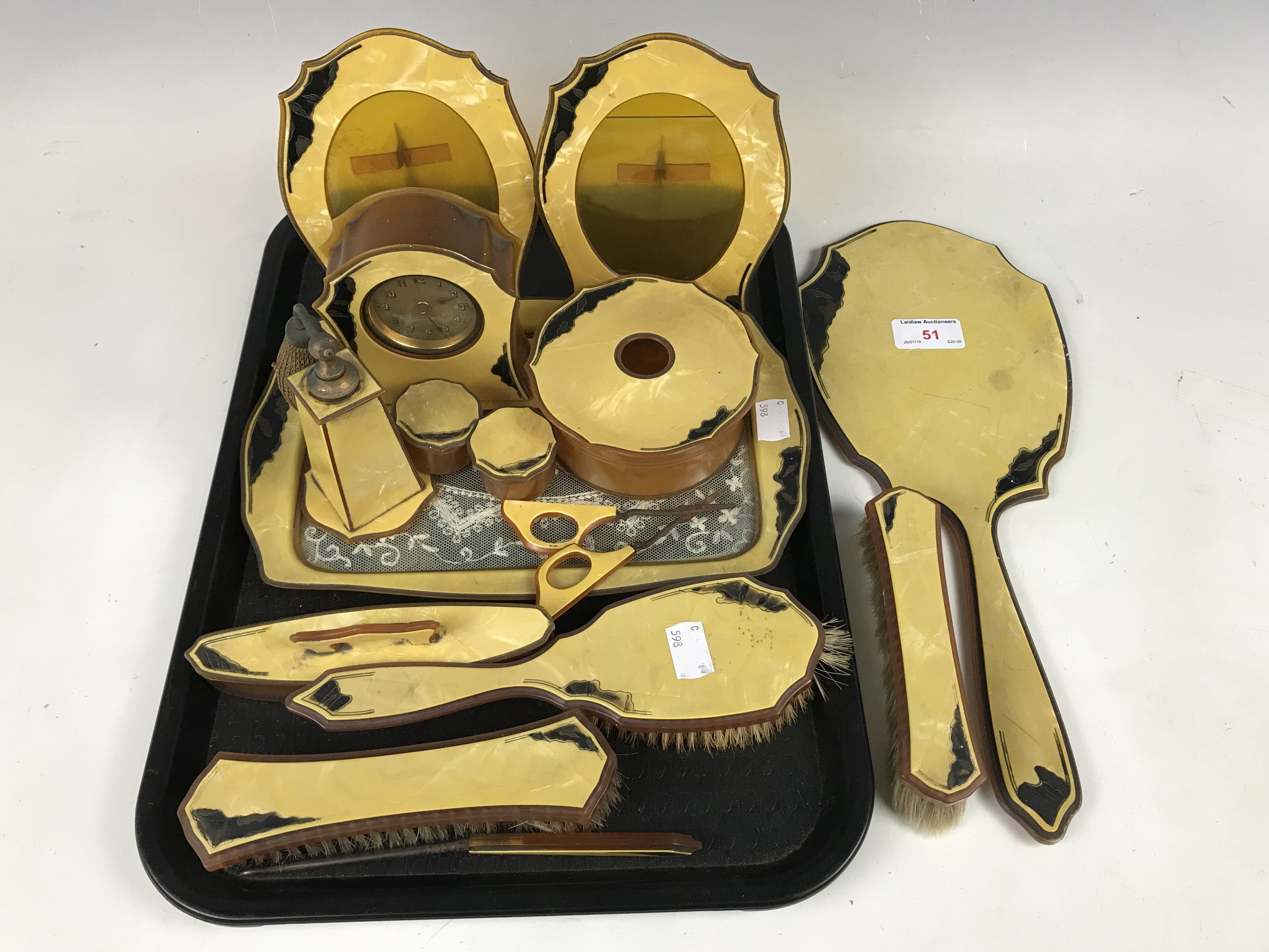 Lot 51 - A 1920s dressing table set