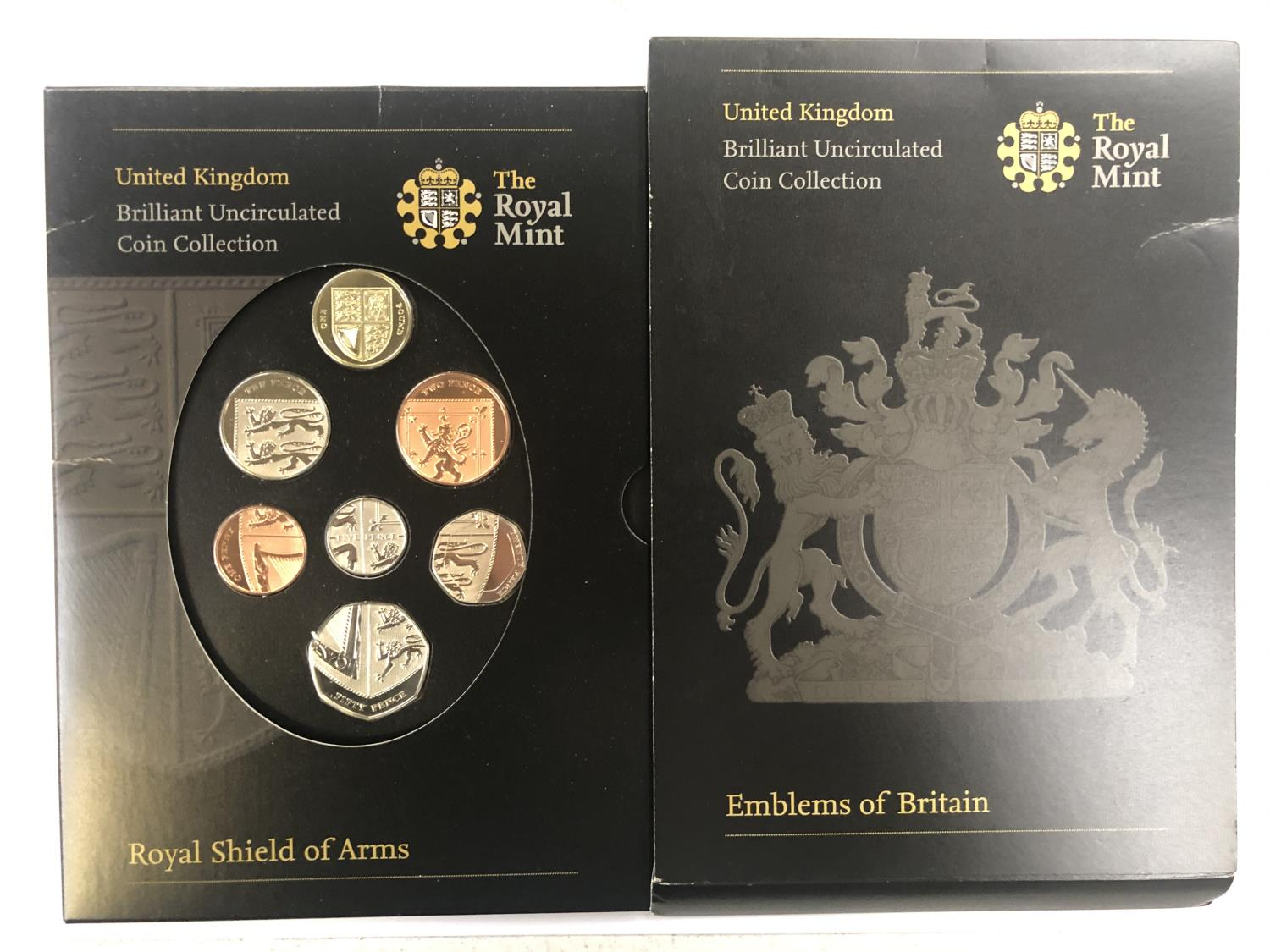 Lot 549 - UK 2008 ?ROYAL SHIELD OF ARMS? EIGHT COIN COLLECTION . PRISTINE CONDITION