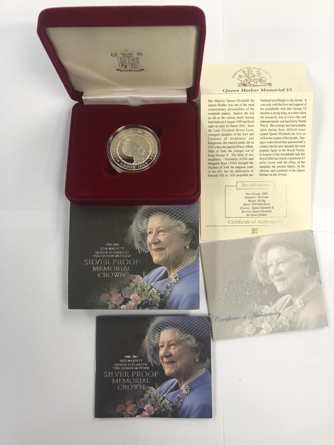 Lot 522 - ROYAL MINT 2002 ?1900-2002 HM QE THE QUEEN MOTHER? SILVER PROOF MEMORIAL CROWN , PRESENT IN