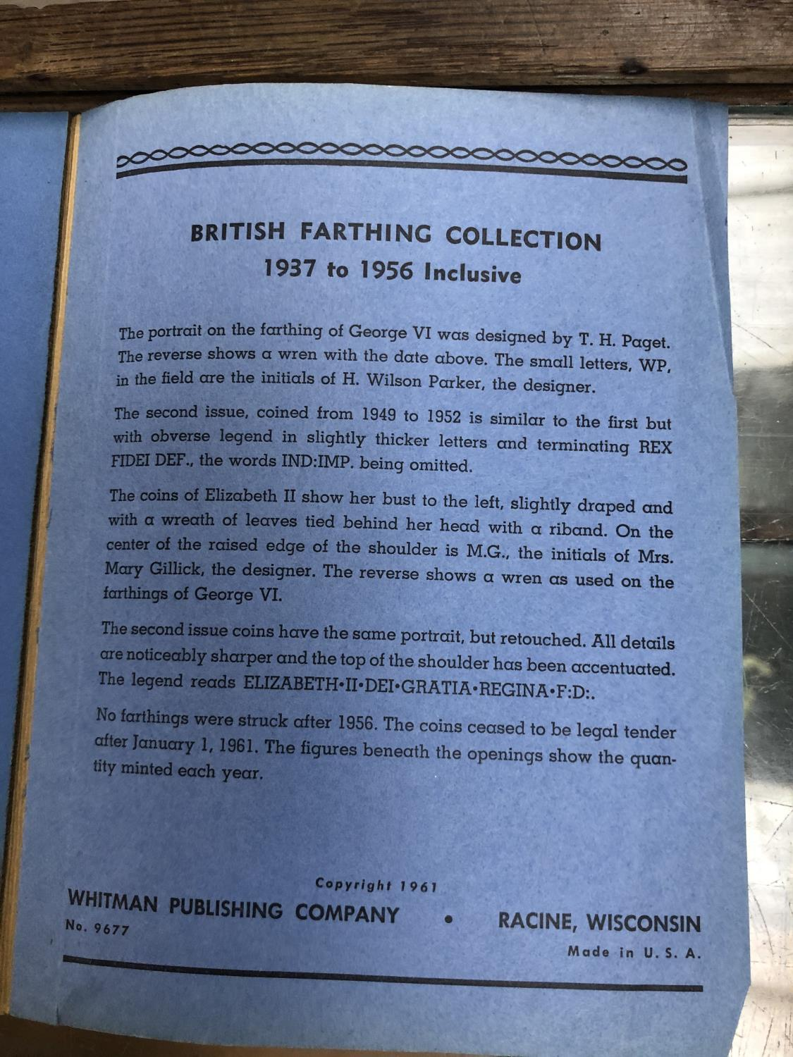 Lot 556 - A RARE 1936-1952 SET OF BRITISH FARTHINGS - GEORGE VI AND MORE
