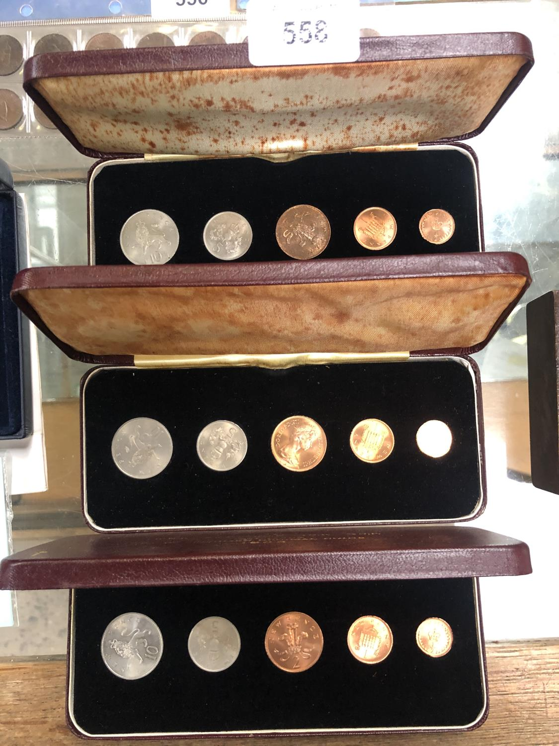 Lot 558 - THREE CASED 1968 'FIRST PROOF' DECIMAL COIN SETS