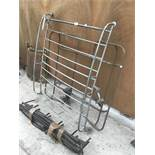 A VINTAGE ROOF RACK POSSIBLY FOR A LANDROVER, AND TWO FURTHER ROOF RACKS