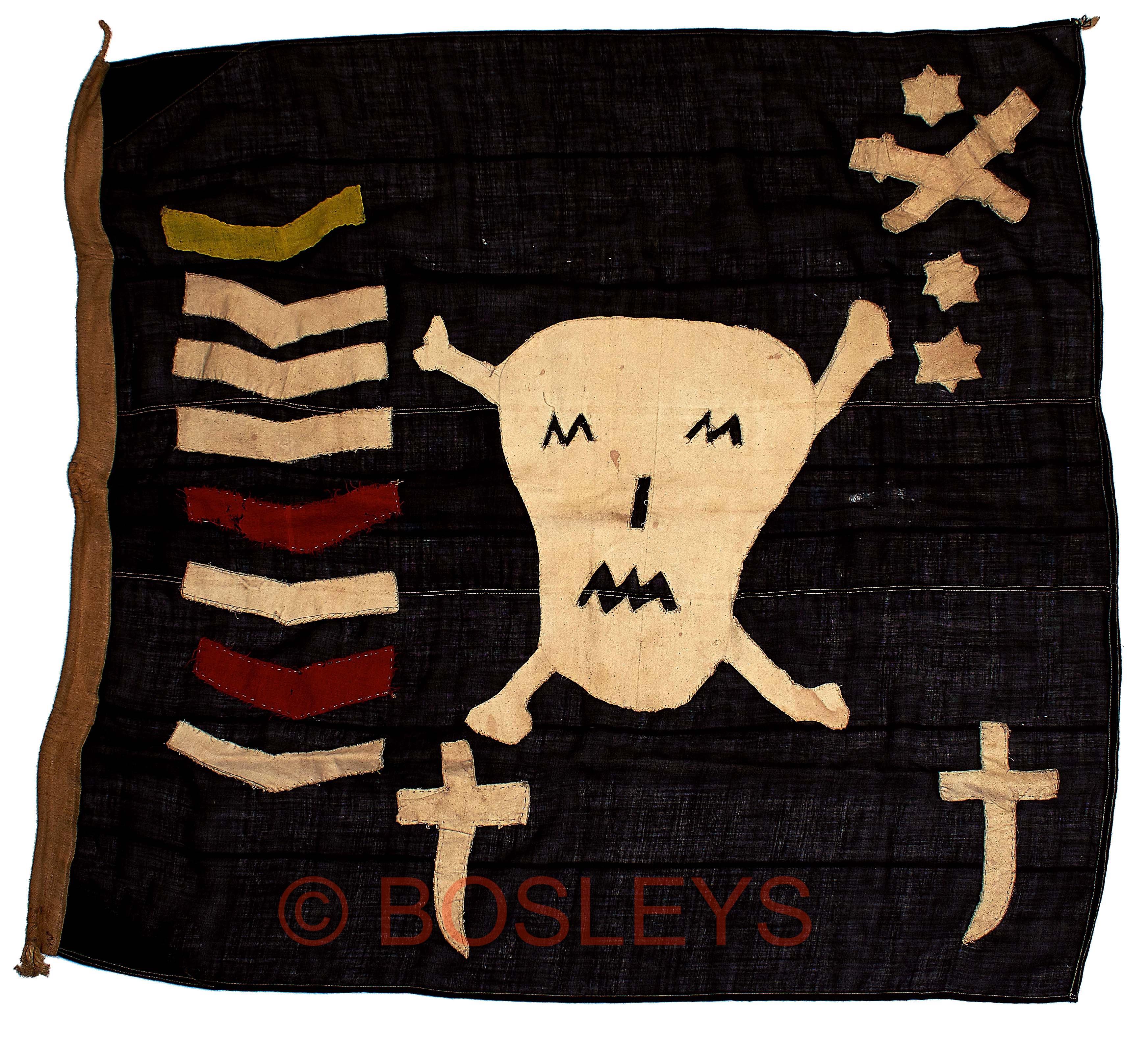 "Lot 548 - WW2 Royal Navy Submarine ""Jolly Roger"" Patrol Flag Attributed to H.M. Submarine ""Thule"""