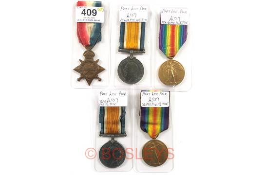 WW1 Northamptonshire Regiment, RMLI Family Casualty Medals