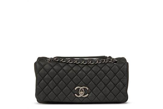 c0a7f314a9a2 Chanel Dark Grey Bubble Quilted Velvet Calfskin Small Bubble Flap ...