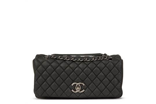 8a2de1bb33b5 Chanel Dark Grey Bubble Quilted Velvet Calfskin Small Bubble Flap ...