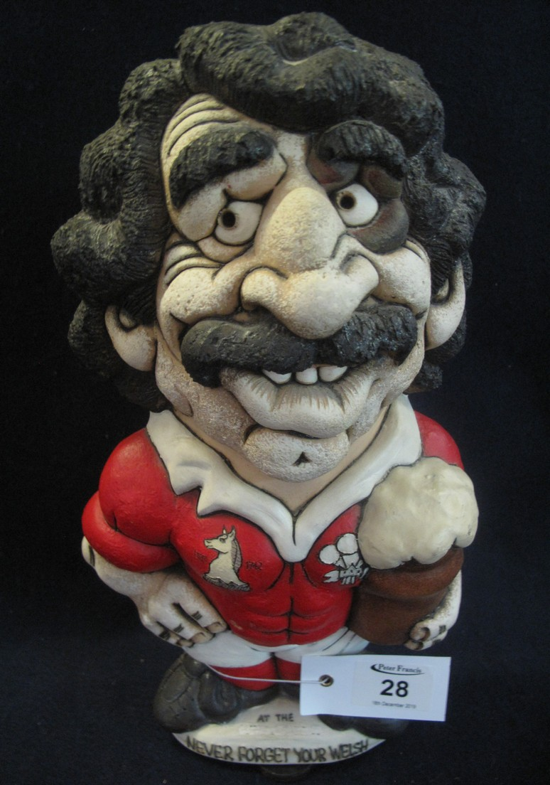 Lot 28 - John Hughes Welsh rugby Grogg 'Never forget your Welsh'.