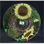 The Foley Wileman & Co 'Intarsio' Arts & Crafts design floral shallow dish. shape no. 3067, reg. no.