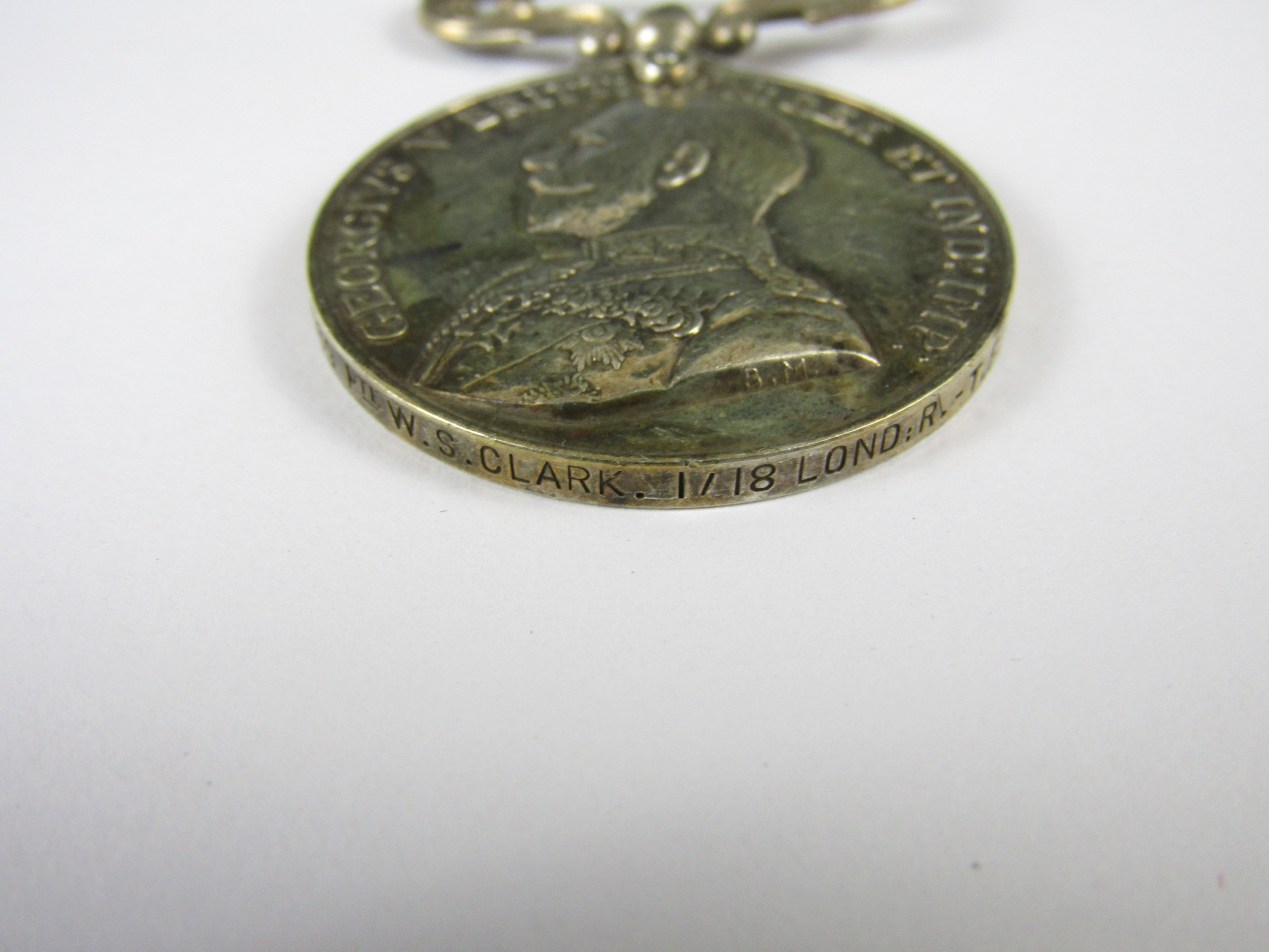 Lot 23 - A George V Military Medal to 1569 Pte W S Clark, 1/18 London Regt TF