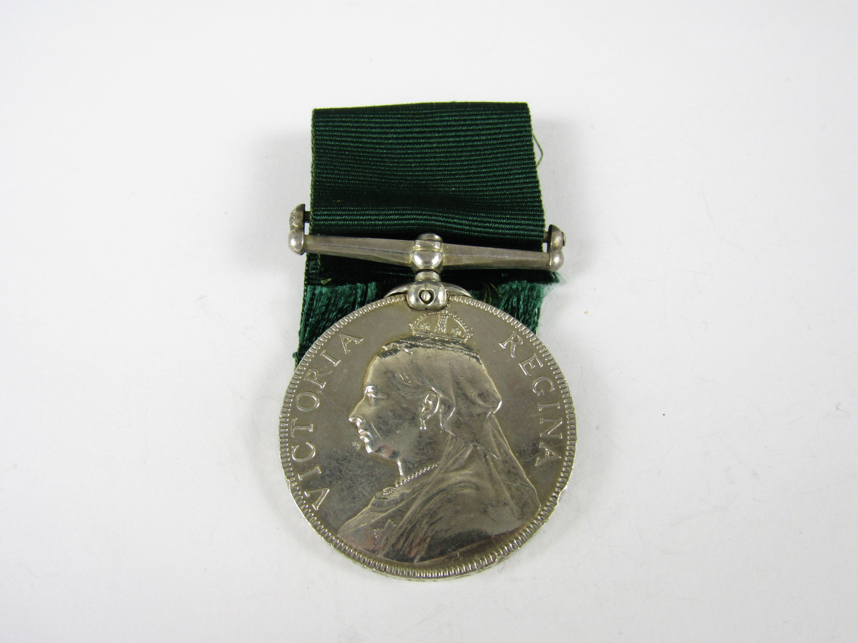 Lot 53 - A Victorian Volunteer Long Service medal to Pte J Johnstone, 1st Rox and Selk Rifle Vols, 1895