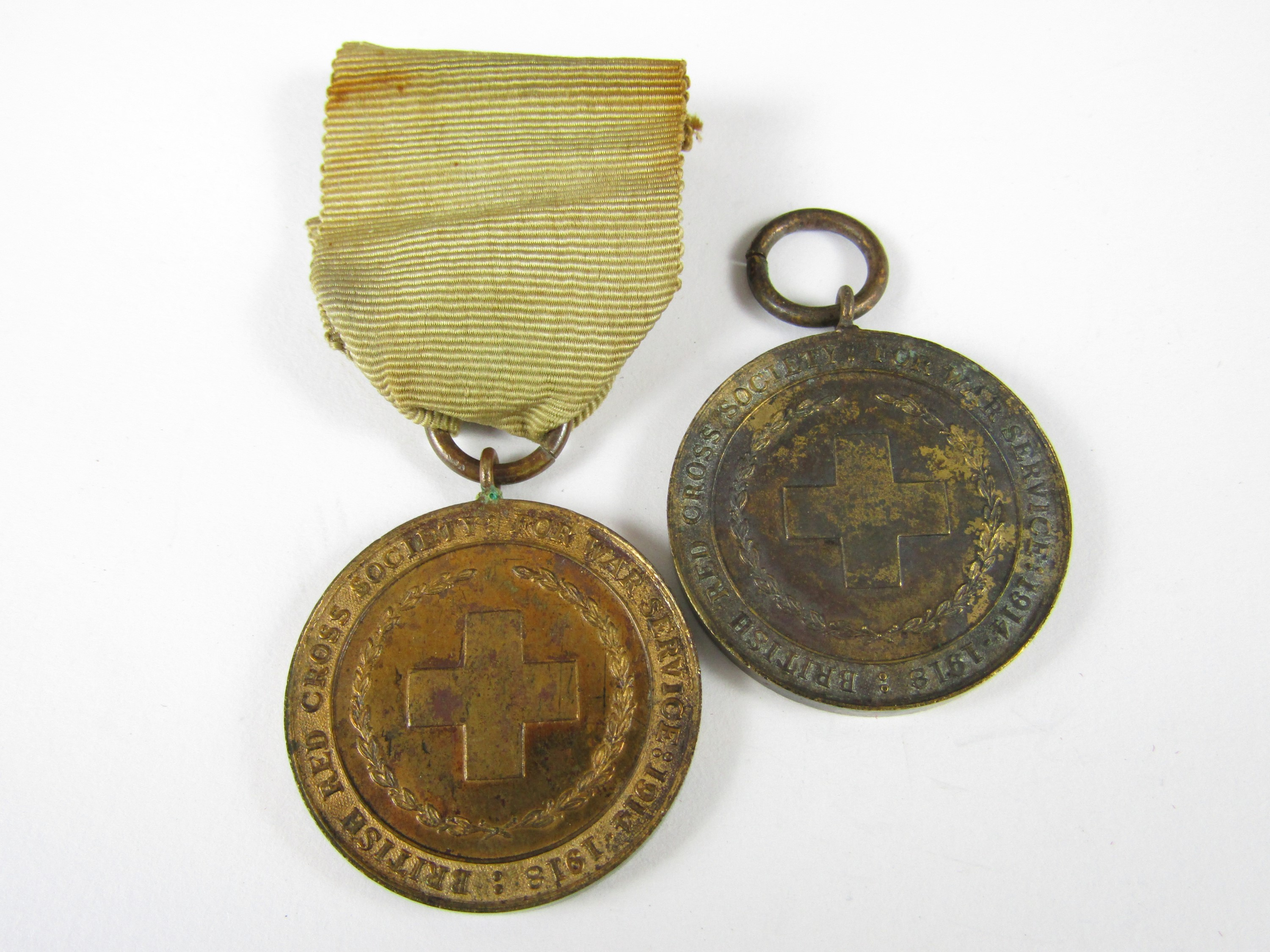 Lot 34 - Two British Red Cross Great War service medals