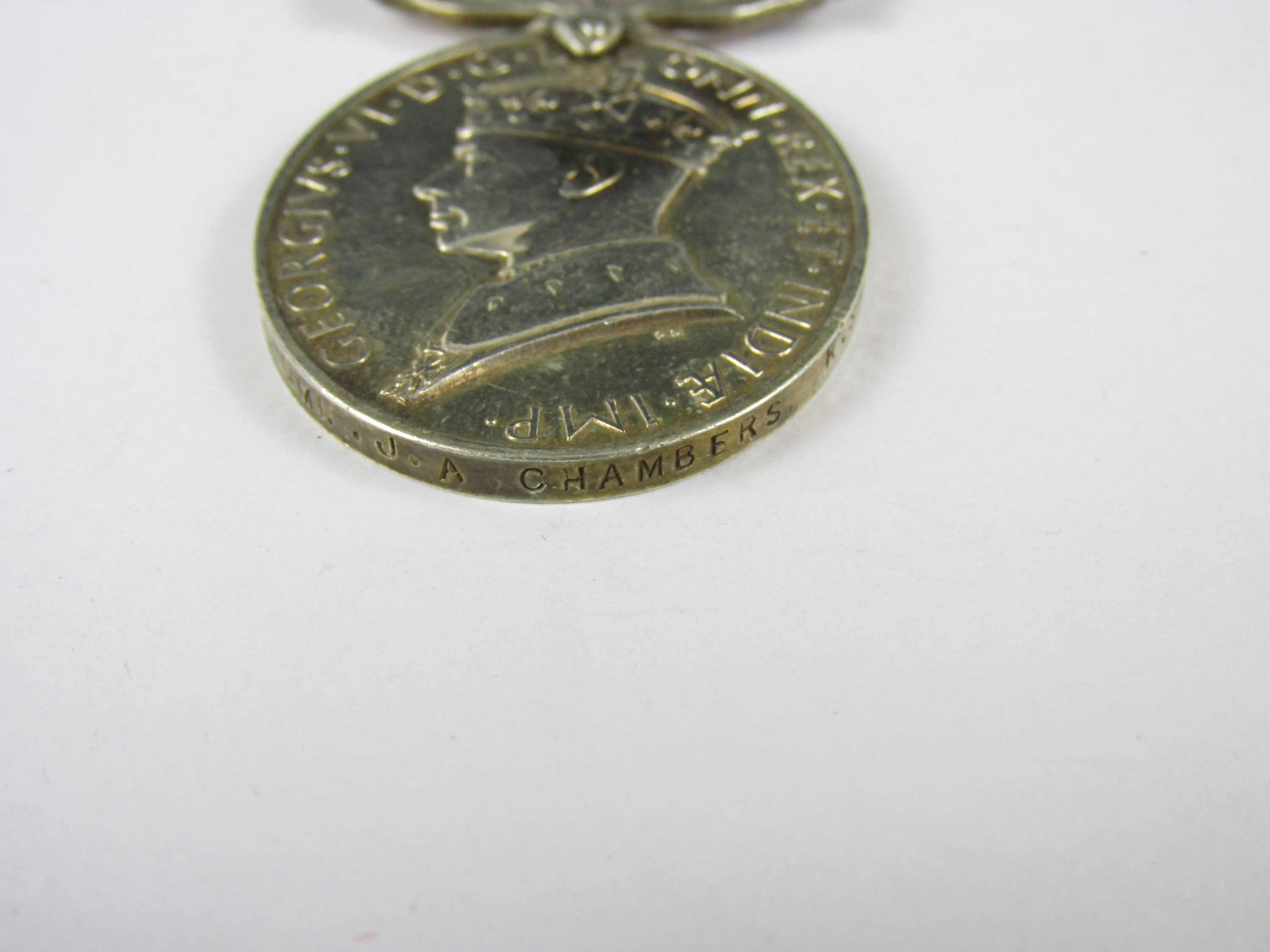 Lot 10 - A George VI Militia Efficiency Medal to 2322960 SIGMN J A Chambers, Royal Signals