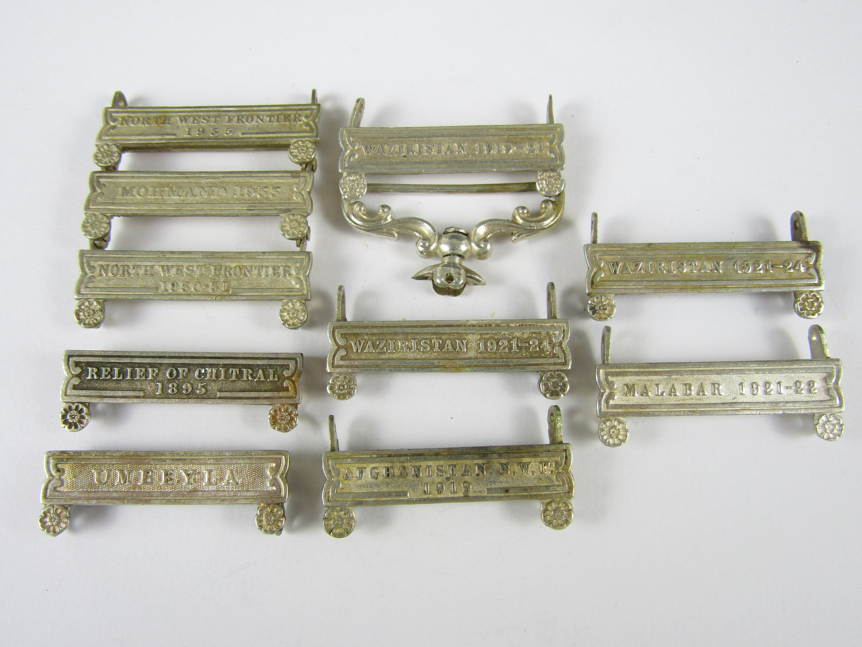 Lot 43 - Various India Service Medal clasps