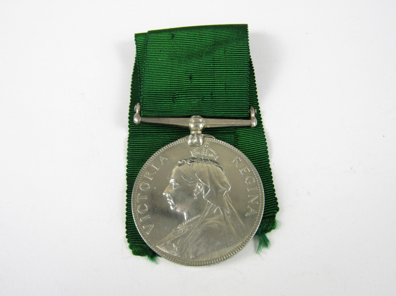 Lot 55 - A Victorian Volunteer Long Service medal to 842 Corpl A Newlands, 3rd V B Arg & Suth Highrs