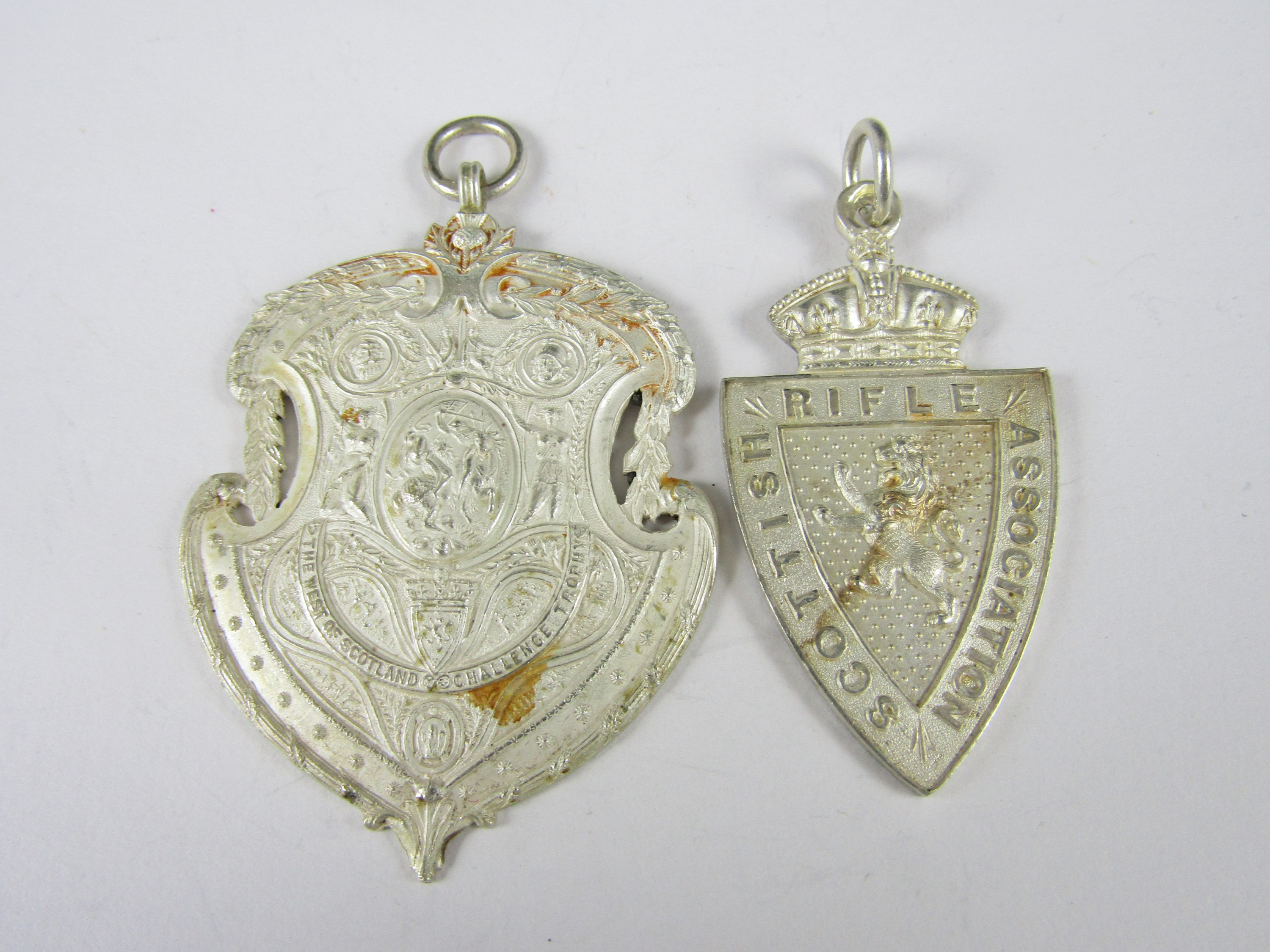 Lot 45 - A Victorian Scottish Rifle Association silver prize fob medallion, together with a contemporary