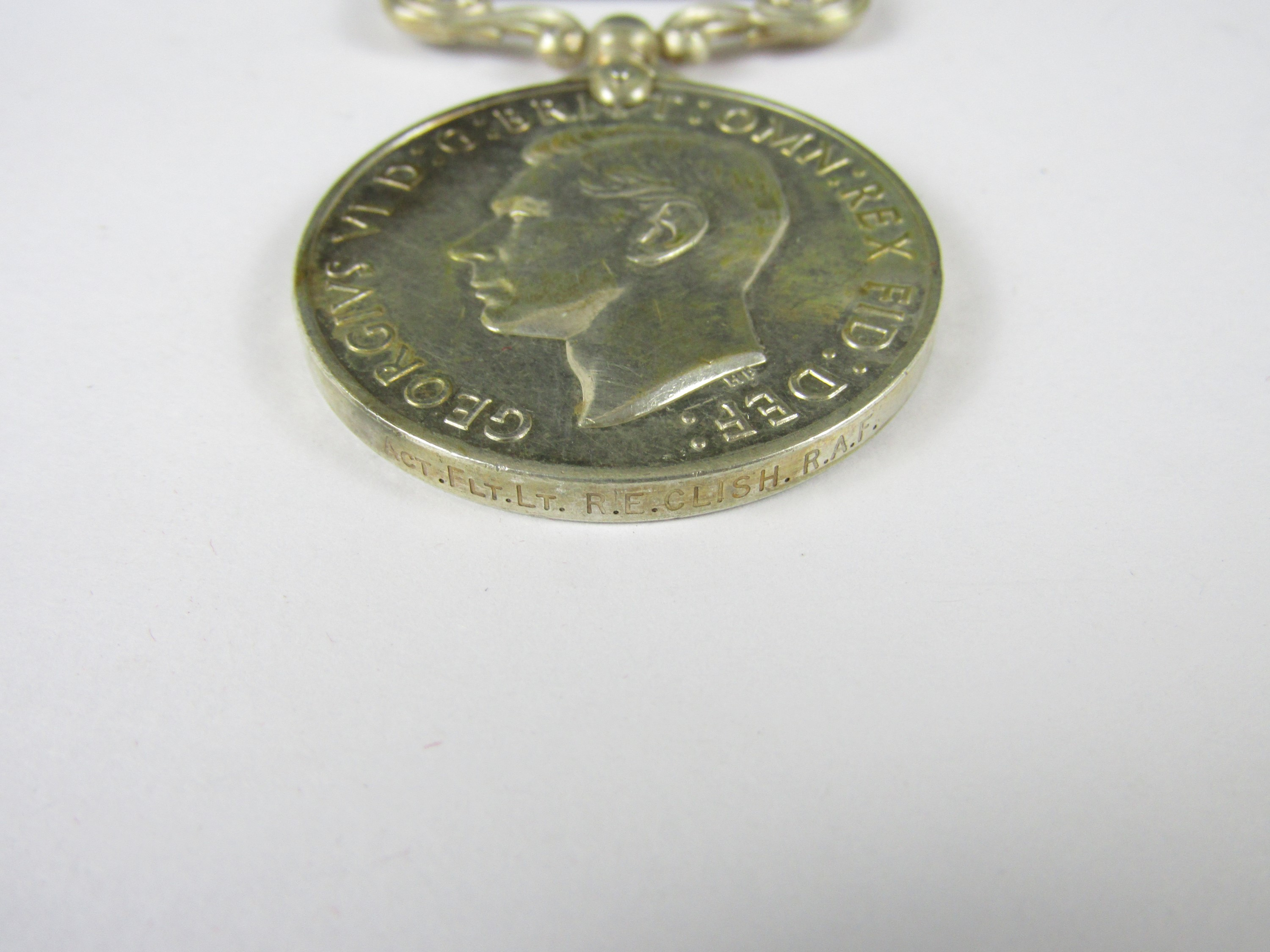 Lot 7 - A George VI RAF Long Service and Good Conduct Medal to [54398] ACT FLT LT R E Clish, RAF
