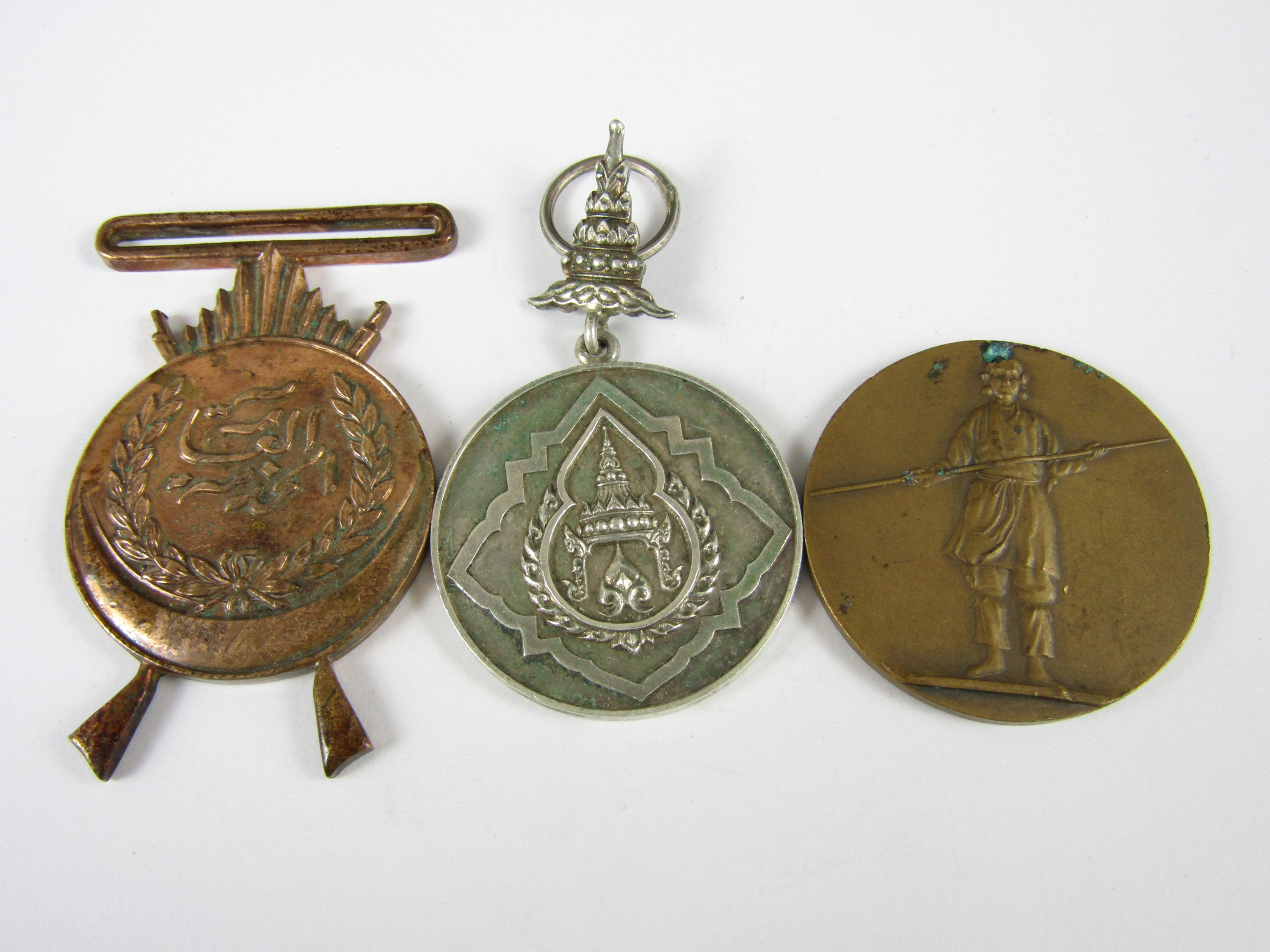 Lot 35 - Three various Oriental / Eastern medals