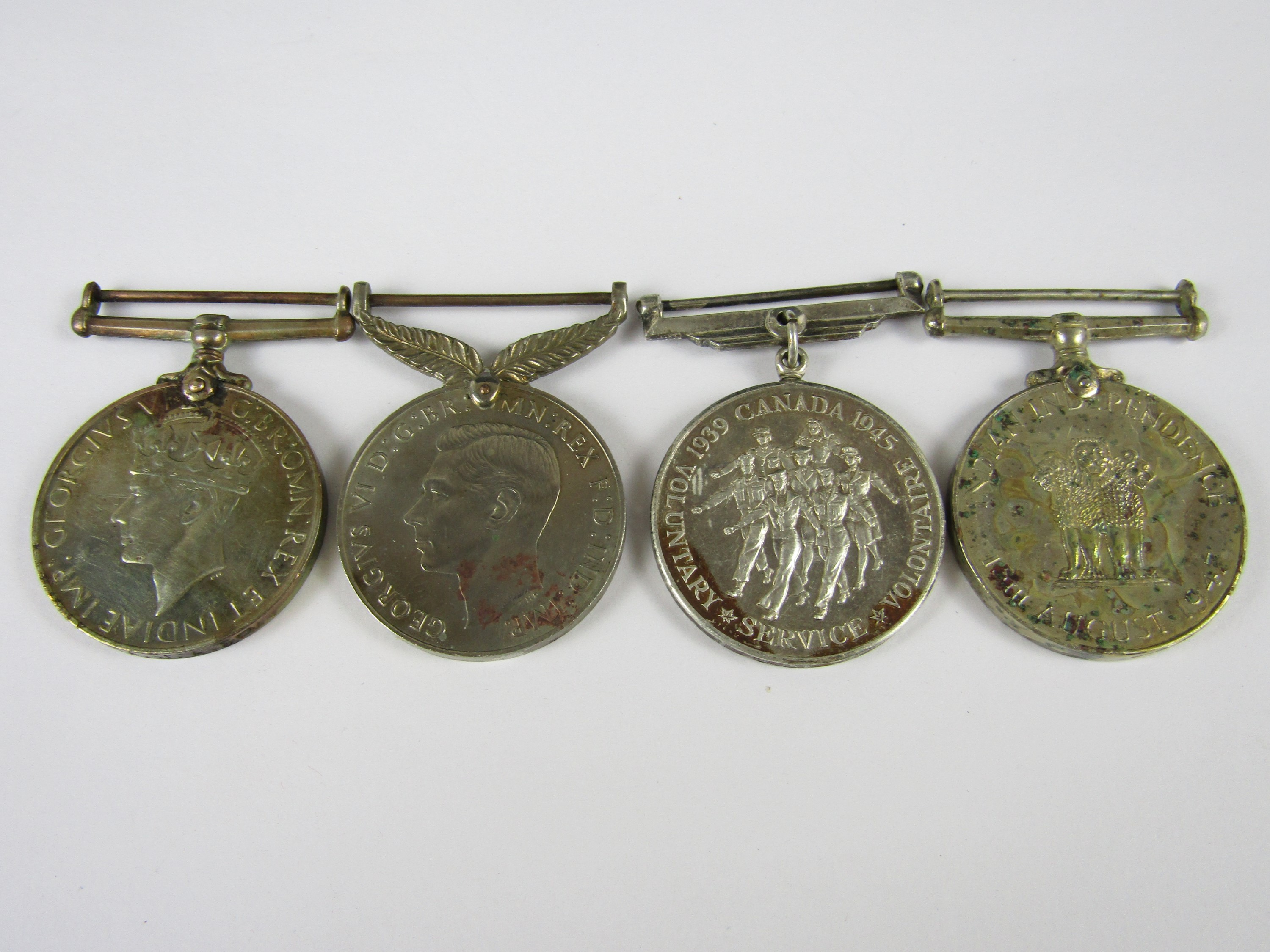 Lot 2 - Australian, New Zealand and Canadian Second World War service medals, and an Indian Independence
