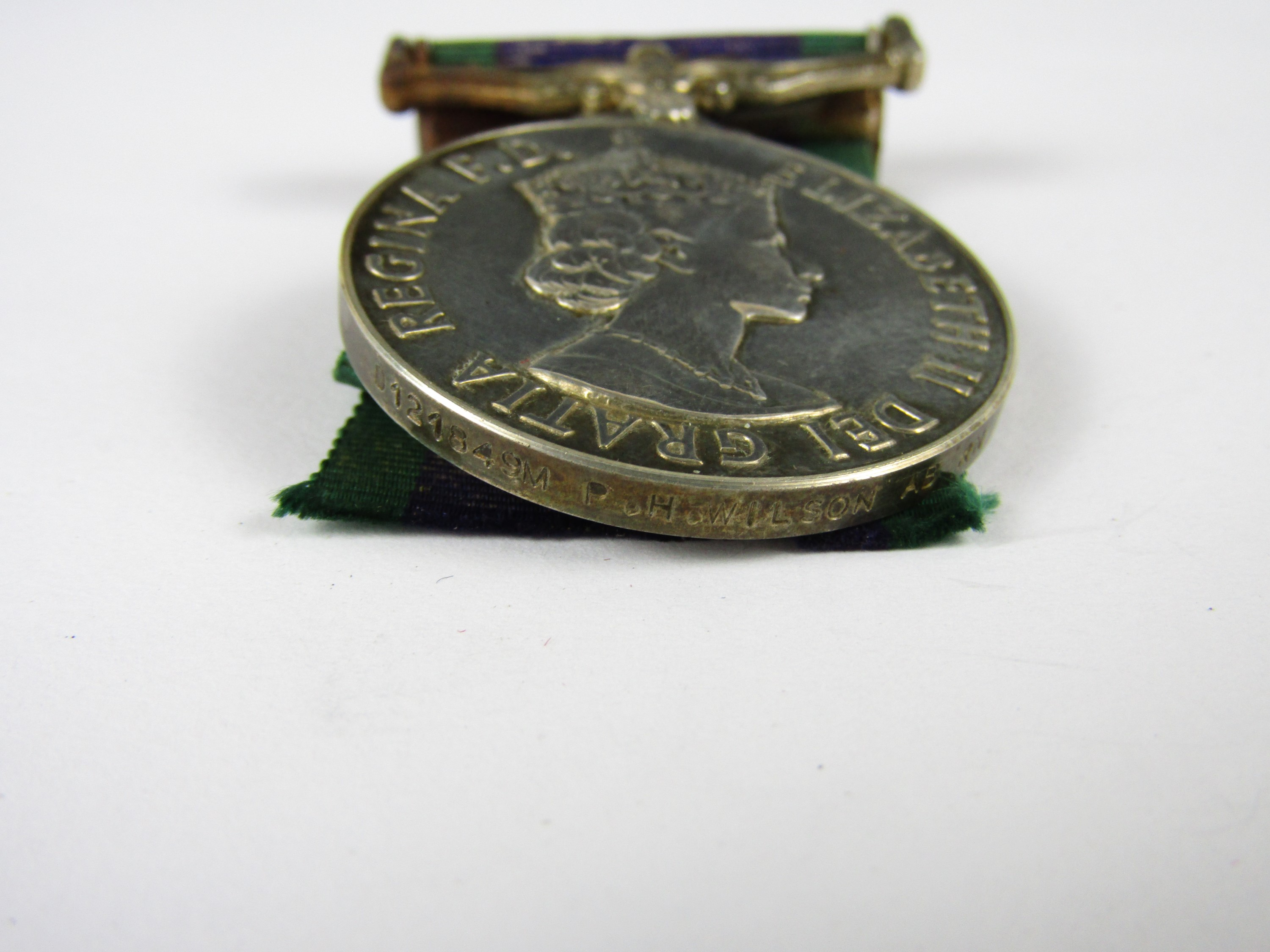Lot 28 - An Elizabeth II General Service Medal, clasp Northern Ireland to D 121849M, P H Wilson, AB RN