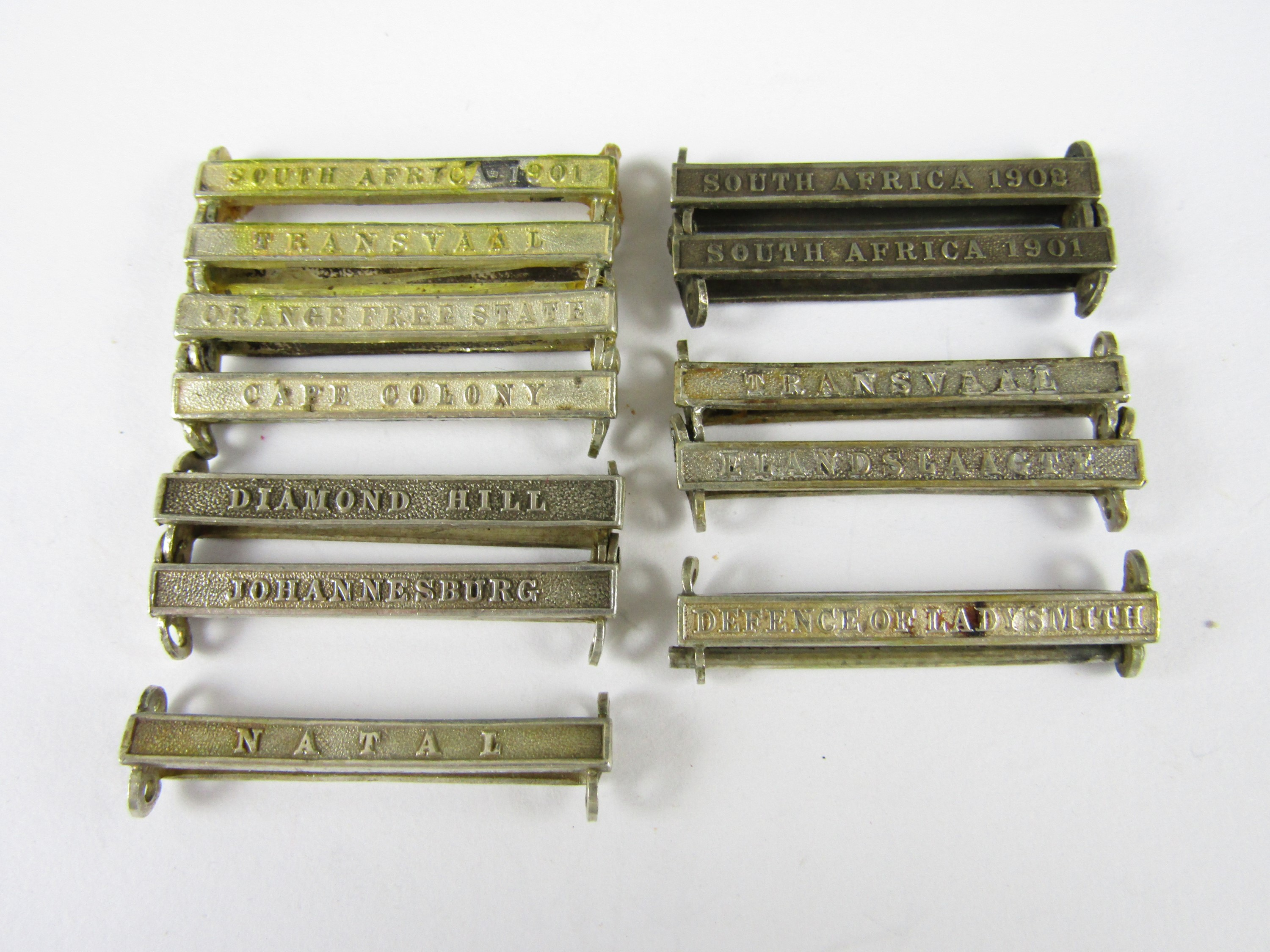 Lot 42 - Various South Africa medal clasps